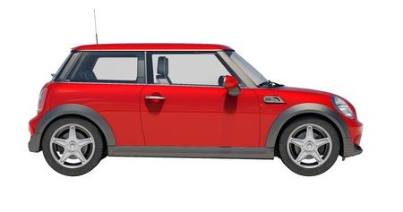 Auto geïsoleerd op witte achtergrond zonder schaduw