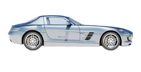 Sport supercar isolated on a light background, the bright sunlight Banque d'images
