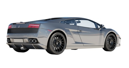 superleggera: Sport supercar isolated on a light background, the bright sunlight Editorial