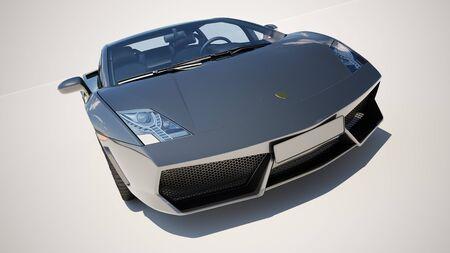superleggera: Sport supercar on a light background, the bright sunlight