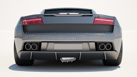 gallardo: Sport supercar on a light background, the bright sunlight
