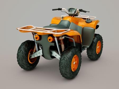 maneuverability: Sports quad bike on a grey background Stock Photo