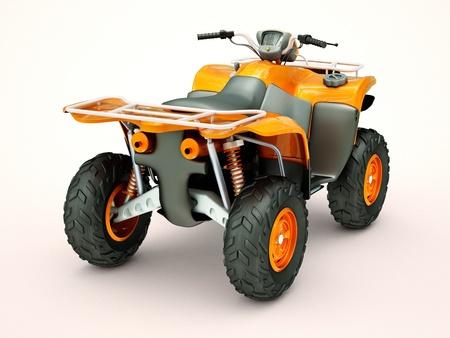 crosscountry: Sports quad bike on a light background