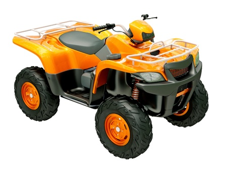Sports quad bike isolated on a light background photo