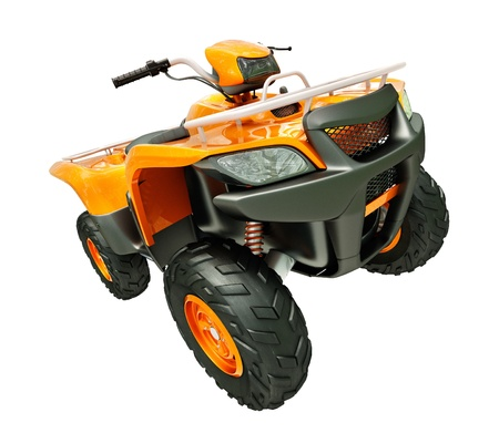 crosscountry: Sports quad bike isolated on a light background Stock Photo