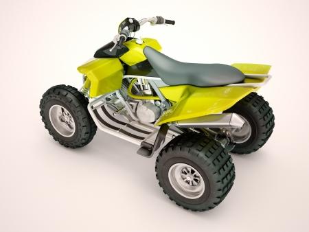 maneuverability: Sports quad bike on a light background