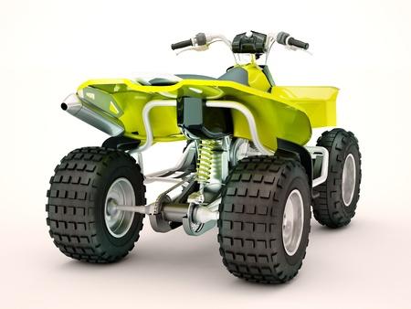Sports quad bike on a light background