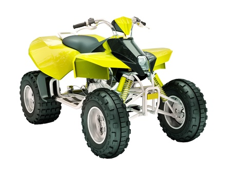 Sports quad bike isolated on a light background Standard-Bild