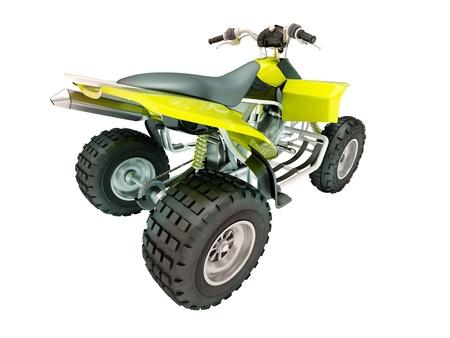 Sports quad bike isolated on a light background Stock Photo