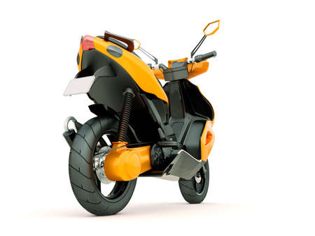 Modern powerful sports scooter on a light background photo