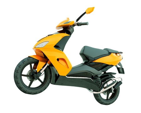 Modern powerful sports scooter isolated on a white background photo