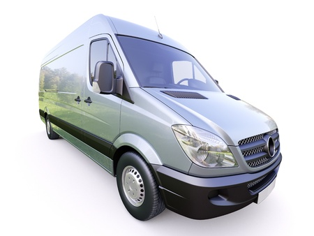 Modern commercial van on a light background Stock Photo - 21584086