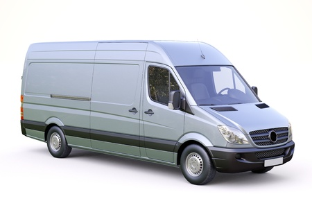 Modern commercial van on a light background Stock Photo - 21584195