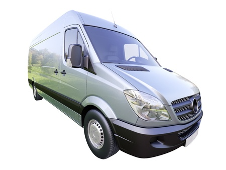 Modern commercial van isolated on a white background Stock Photo - 21584199