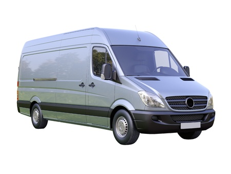 Modern commercial van on a light background Stock Photo - 21584267