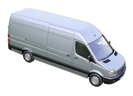 Modern commercial van on a light background Stock Photo - 21584269