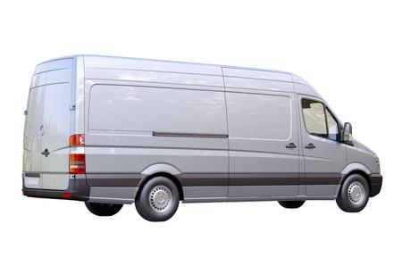 panel van: Modern commercial van on a light background