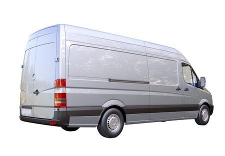Modern commercial van on a light background Stock Photo - 21584289