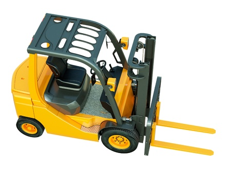 flexi: Modern forklift truck isolated on white background