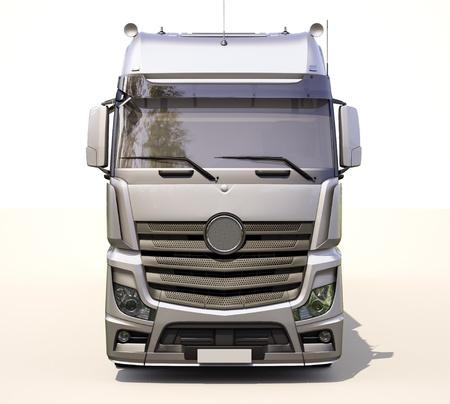 autotruck: A modern semi-trailer truck on light background