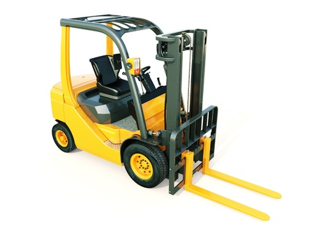 flexi: Modern forklift truck on light background Stock Photo