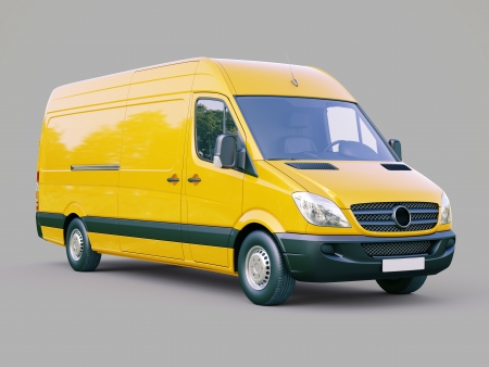 Modern commercial van on a gray background Stock Photo - 21753054