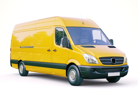 Modern commercial van on a light background Stock Photo - 21753055