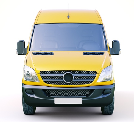 Modern commercial van on a light background Stock Photo - 21753057