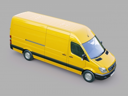 Modern commercial van on a gray background Stock Photo - 21753058