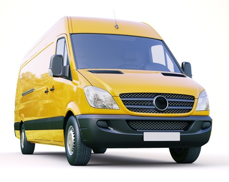 Modern commercial van on a light background Stock Photo - 21753063