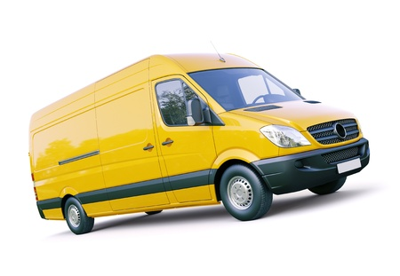 Modern commercial van on a light background Stock Photo - 21753073