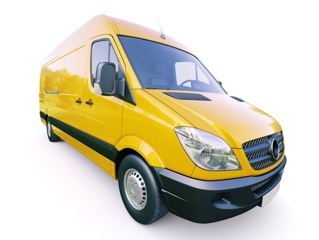 Modern commercial van on a light background Stock Photo - 21753092