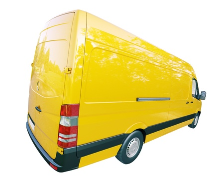 panel van: Modern commercial van isolated on a white background Stock Photo