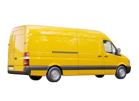 Modern commercial van isolated on a white background Stock Photo - 21753135