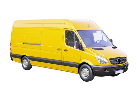 Modern commercial van isolated on a white background 스톡 콘텐츠