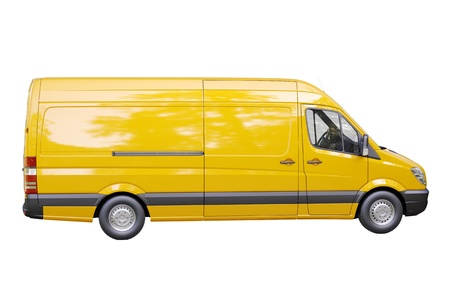 light duty: Modern commercial van isolated on a white background Stock Photo