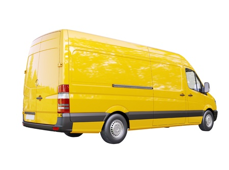 Modern commercial van isolated on a white background Stock Photo - 21753142