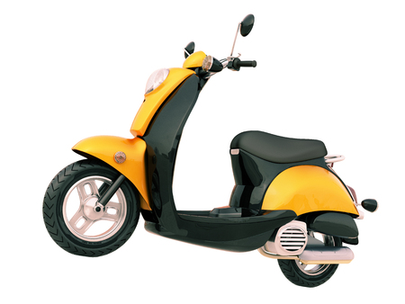 Modern classic scooter isolated on a white background photo