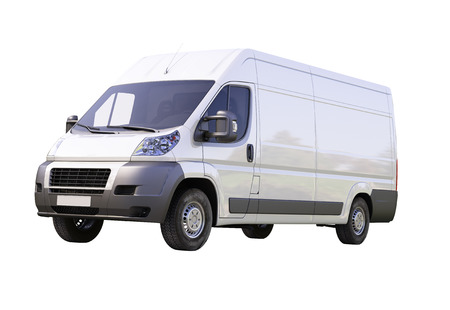 White commercial delivery van isolated on a white background Stock Photo - 22490276