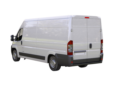 White commercial delivery van isolated on a white background Stock Photo - 22490283