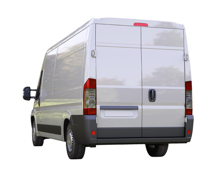 White commercial delivery van isolated on a white background Stock Photo - 22490285