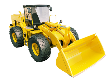 front loader: Modern front loader isolated on white background without shadow