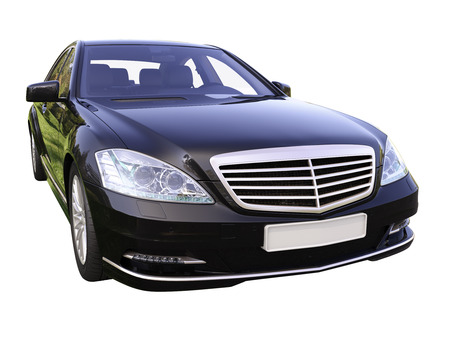 Modern luxury executive car isolated on a white background