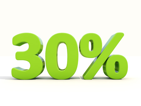 markdown: Thirty percent off. Discount 30%. 3D illustration.