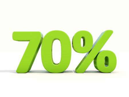 seventy: Il settanta per cento di sconto. Sconto del 70%. Illustrazione 3D. Archivio Fotografico