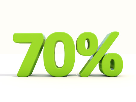 extent: Seventy percent off. Discount 70%. 3D illustration.