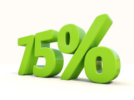 seventy: Settantacinque per cento di sconto. 75% di sconto. Illustrazione 3D.