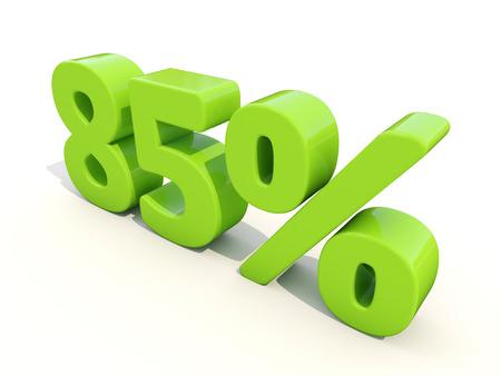 achtzig: Achtzig f�nf Prozent aus. 85% Preisnachlass. 3D-Darstellung. Lizenzfreie Bilder