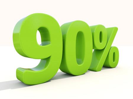 90: Ninety percent off. Discount 90%. 3D illustration.