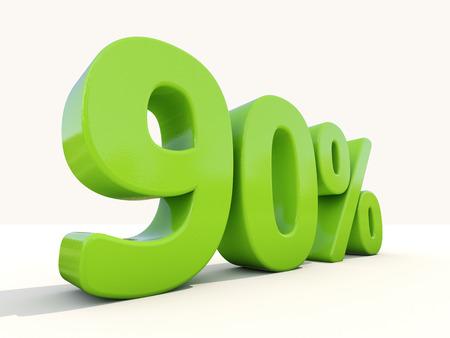 ninety: Ninety percent off. Discount 90%. 3D illustration.